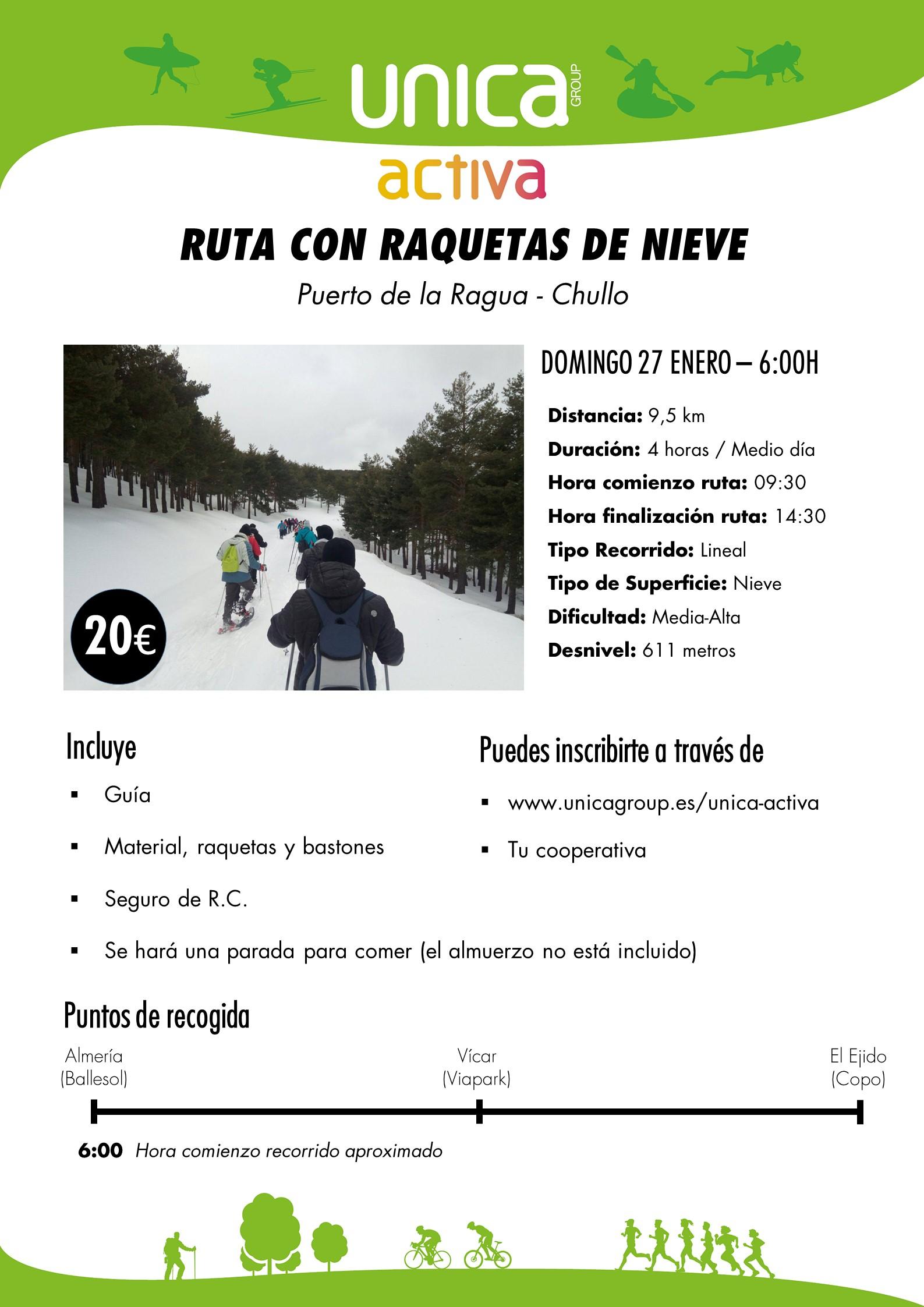 Ruta con raquetas de nieve (Puerto de la Ragua)